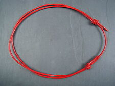 Real genuine 2mm red leather cord adjustable choker necklace- surfer boho hippy
