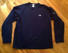 THE NORTH FACE Fleece Crewneck Top Pullover Navy Blue Shirt Mens Large