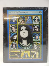 "Face of Mary Stained Glass Jigsaw Puzzle Over 500 Piece Measures 15"" x 21 1/4"""