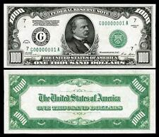 NICE CRISP 1928 $1,000 U.S. FEDERAL RESERVE REPLICA BANKNOTE! PLEASE READ DESCRI