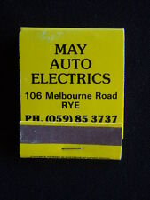 MAY AUTO ELECTRICS 106 MELBOURNE RD RYE 059 853737 MATCHBOOK