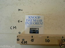 STICKER,DECAL SONY AHF 60 CASSETTES KNOOP DAT MAAR IN JE OREN