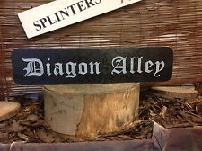 Vintage Wood street road sign, DIAGON ALLEY HOGWARTS HARRY POTTER