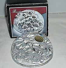 BEAUTIFUL CRISTAL D'ARQUES DAISY FLOWER CLEAR CRYSTAL GLASS PAPERWEIGHT BOXED