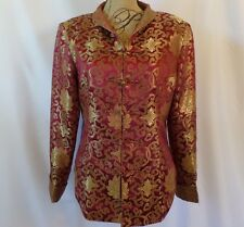 Vintage Lian Lin Authentic Chinese Womens Medium - Large Gold & Red Jacket