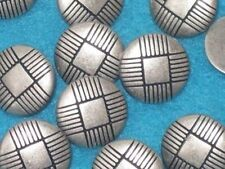FANCY Incised Set 12 Vintage Antiqued Silver metal new buttons 5/8""
