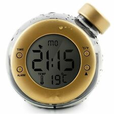 The First Smart Water Power Clock The Water Elemental Magic Alarm Clock Gold
