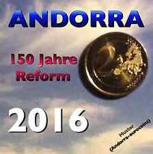 (AN2C) ANDORRA | ANDORRE 2 EURO 2016 GDM 150. JAHRE REFORM GEDENKMÜNZE BU | ST