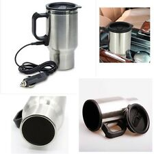 12V Auto Car Heated Warm Stainless Steel Travel Electric Mug Flask Kettle 450ML