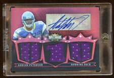 ADRIAN PETERSON 2007 TOPPS RC AUTO #D 07/18 GAME JERSEY 5X PIECE RARE VIKIGNS RB