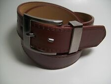 "Men Smoke Buckle Brown leather belt XL 42 - 44"" #5647B"