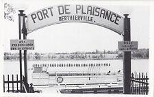 Carte Postale Port de Plaisance BERTHIERVILLE Quebec Canada 1950-60s Postcard