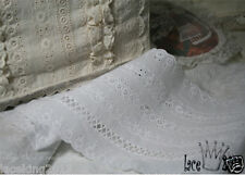 "1Yds Broderie Anglaise cotton lace trim 5.1"" YH COTTON-SERIES laceking2013"