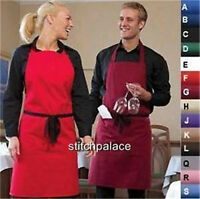 """Denny's Bib Apron With OR Without Pocket 14 Cols 36x36"""" Adjustable"""