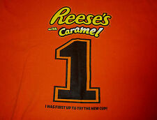REESES WITH CARAMEL T SHIRT Candy  Chocolate Peanut Butter Cups #1 First To Try