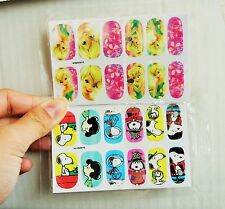 Snoopy Nail Wrap and  Tinker Bell Nail wrap water transfer 2 pack