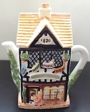 Vintage Ceramic Georgian Sweet Shop Teapot Toffee Humbugs Country House Cottage