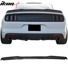 15-17 Ford Mustang Coupe H Style High Kick V Trunk Spoiler -Carbon Fiber CF