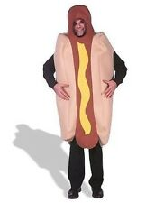 *NEW Deluxe Hot Dog W/ Mustard Funny Halloween Costume Adult Unisex - One Size