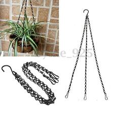 Weight-bearing 12kg Iron Plant/Pot/Flower Basket Holder Hanging Chain + S Hook