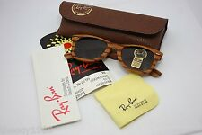 Rayban B&L Vintage Wayfarer Woodies Wood Brand New USA B15 50mm Pinewood