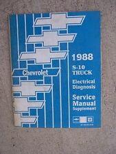 1988 Chevrolet S-10 Truck Electrical Diagnosis Service Manual Supplement U