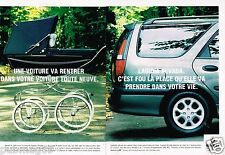 Publicité advertising 1995 (2 pages) Renault Laguna Nevada