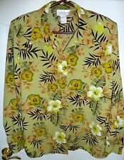Ladies JORDAN Floral, Print Blouse, Size Large