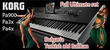 Full Ultimate set Bulgaria Turkish ald Ballkan for Korg pa900 Pa3x Pa4x