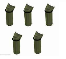 (5) 3-In-1 Waterproof Storage Matches Box Green Signal Mirror Striker Container