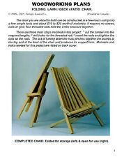 WOODWORKING PLANS - Outdoor/patio/deck chair. DIY folding lawn chair plans (Eng)