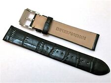 NEW 20MM GENUINE LEATHER DARK GREEN WATCH STRAP/BAND FOR EMPORIO ARMANI
