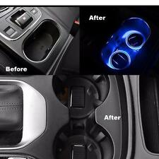 Solar Energy Cup Holder Bottom Pad LED Light Cover For Hyundai Tucson 2016-2017