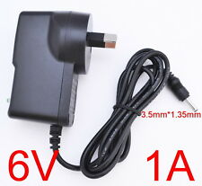 AC 100-240V Converter Adapter DC 6V 1A 6W Power Supply 1000mA AU 3.5mm x 1.35mm