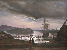 JOHAN CHRISTIAN DAHL NORWEGIAN VIEW VAEKERO CHRISTIANIA ARTWORK PRINT BB5855A