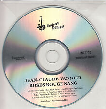 JEAN-CLAUDE VANNIER Roses Rouge Sang UK 10-track promo test CD Finders Keepers