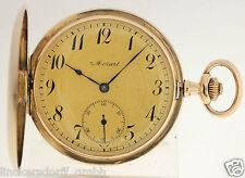 MOZART TASCHENUHR IN 14ct GOLD  ALTER CA:1900 - GEWINNER GOLDMEDAILLE    WELTAUS