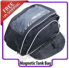 MOTORCYCLE MAGNETIC BLACK TANK BAG MAP WINDOW MOTORBIKE/BIKE LUGGAGE PANNIER NEW