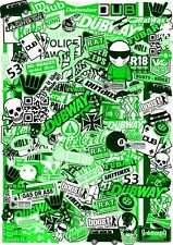 A4 Size EURO Style GREEN Tint Vinyl Sticker Bombing Sheet JDM Ratlook UK Made