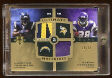 2007 ULTIMATE DUAL PATCH LOGO /25 ADRIAN PETERSON RC / LADAINIAN TOMLINSON  RARE