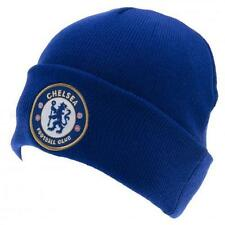 Chelsea FC Football Club Adults Turn Up Blue Beanie Hat BNWT New Skull Cap CFC