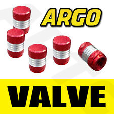 RED CHROME VALVE DUST TYRE WHEEL CAPS FORD MAVERICK