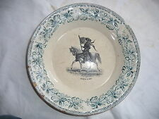 plat ,ancienne assiette parlante JEANNE D'ARC HB&Cie Choisy JOHAN OF ARC