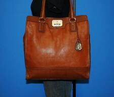 COLE HAAN Two-Toned Large Brown Leather Shopper Tall Tote Purse Shoulder Bag