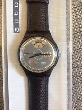 "1991 SWATCH WATCH AUTOMATIC ""BLACK MOTION"" - SAB 100 - NIB VINTAGE!"