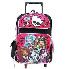 "Monster High 16"" inches Large Rolling Backpack - BRAND NEW - Licensed"