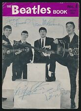 Beatles VERY RARE 63 ' BEATLES BOOK MONTHLY #1 ' COVER PAGE SIGNED BY ALL FOUR!