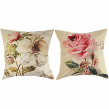 Vintage Colorful Rose Printed Throw Pillow Case Waist Cushion Cover Home Decor Y