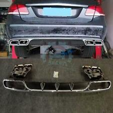 3x REAR DIFFUSER with EXHAUST TIPS Muffler For Mercedes-Benz E-class W212 E63 S