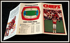 1987 KANSAS CITY CHIEFS FRITO LAY FOOTBALL POCKET SCHEDULE FREE SHIPPING
